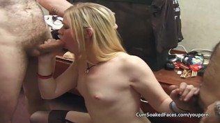 Trailer park amateur sucking cocks and bukkake