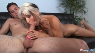 Sally D Angelo Helps Her Grandson Learn The Art Of Fucking