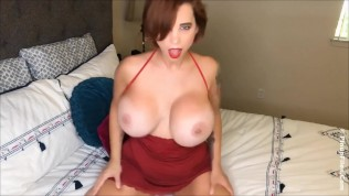 MILF Brittany ELizabeth tease in bed with her huge natural tits