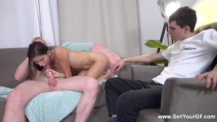 Sell Your GF - Nata Paradise - Cuckold helps gf choose fucker