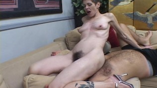 Her hairy pussy is great for smothering