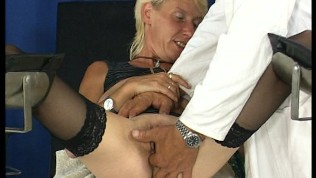 Mature Chick Gets Fingered By Doctor - DBM Video