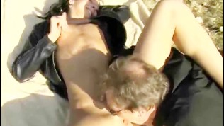 Outdoor sex with an old perv