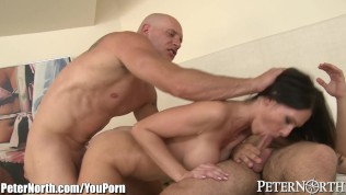 PeterNorth Big Tits MILF Fucked by 2 Men