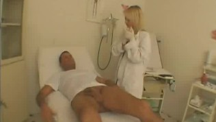 Naughty Female Doctor Examines A Patients Cock