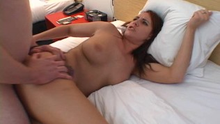 Alisha gets filled up with cum by two guys