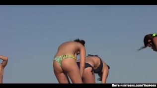 Hot Ass Bikini Girls Topless At the beach Voyeur Hd Video