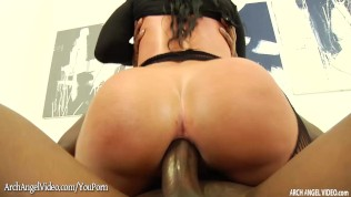 Jada Stevens rammed in the ass by big black cock