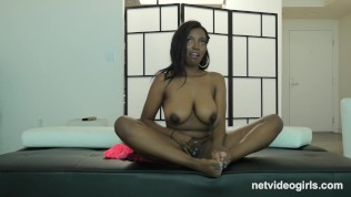 PERFECT TIT Ebony Calendar Girl Creampied