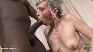 Black and White - BBC Cum drinking Slut Likes big black cock in her ass