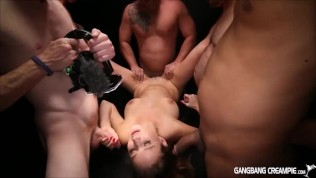 3 sexy girls that love dick so much they get gangbanged