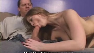 Stripteasing Teen Seduces Older Man