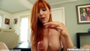 Big Tits Redhead Babe Lauren Phillips Loves Sucking Cock