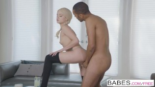 Black is Better - Elsa Jean in hot interracial scene