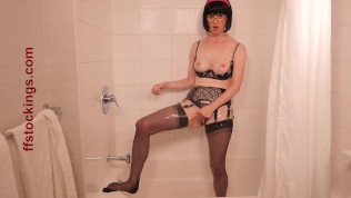 FFstockings - Soaked, Soapy, and See Through