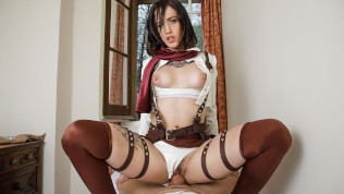 VRCosplayX.com Lilyan Red As Mikasa Attacks Your Titanic Dick