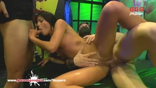 Beautiful Eveline Dellai Anal destroyed in Germany - German Goo Girls