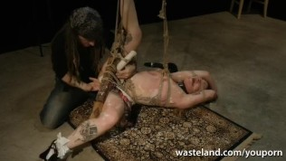 Tied Teased Submissive Has Hot Orgasms With Wax