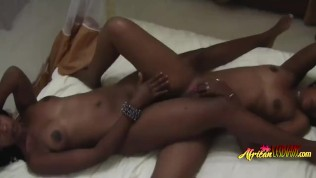 Hot ebony babes are about to experience orgasm
