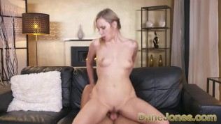 Dane Jones Big tits blonde Angel Piaff sloppy blowjob cowgirl and creampie