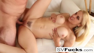 Passionate fucking with Sarah Vandella and her Russian stud