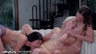 WebYoung Truth or Dare Turns Into Lesbian Licking 3Some!