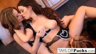 Jayden Cole, Taylor Vixen, and Emily Addison have some fun