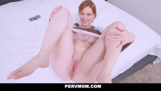 PervMom - Horny Stepmom Find Sons Jizz Rag
