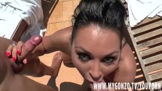 Brunette Porn Star Rosalina Love Gets Busted In A Threesome Hardcore Action