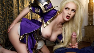 VRCosplayX.com Hot Sorceress Jaina Proudmoore Bonds Your D With Her Pussy