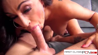 FirstClassPOV - Claudia Valentine sucking a big dick, big boobs & big booty