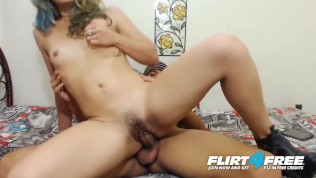 Flirt4Free Models Fox Kelly and Latin Zander - Sexy Latina Takes a Big Hard Cock and Creampie in Her Sweet Pussy