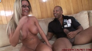 Busty college girl Megan pounded by huge black cock
