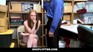 ShopLyfter - Redhead Teen Gets Railed by LP Officer