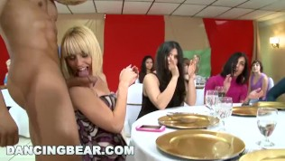 DANCING BEAR - CFNM Party Featuring Big Dick Male Strippers And Horny Girls Gone Wild