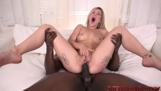 Hot girl Kali Roses taking a hard black cock