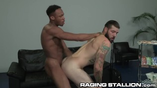 RagingStallion Airport Barista Fucked by Hot BBC on the Job!