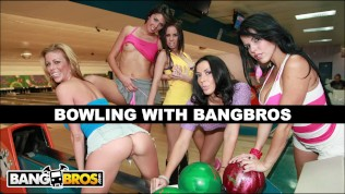 BANGBROS - Bowling For Pornstars With Rachel Starr, Diamond Kitty, Alexis Fawx, Brandy Aniston, and Anastasia Morna