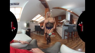 StockingsVR - Man Hungry Big Tits Bit Ass Milf Striptease