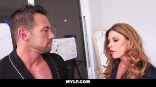 MYLF - Dick Obsessed Milf Gargles On Huge Cock