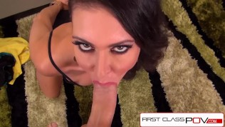 FirstClassPOV - Jessica Jaymes sucking a monster cock, big tits & big booty