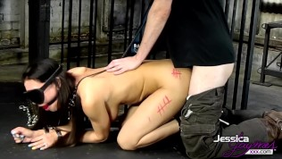 Porn queen Jessica Jaymes gets tied up & fucked hard, huge tits & big booty
