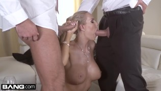 Glamkore - Czech Blonde with big tits has a dp threesome