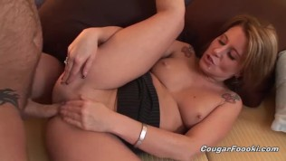 MILF cougar gets bent over and anally pounded