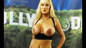 Topless Tanya does the Booble Minute