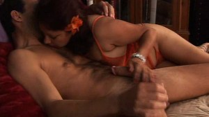 Flor - mature mexican amateur sucks cock and balls