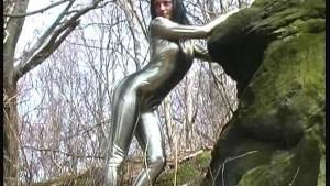 Spandex Cisara outdoor posing