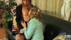 Nylon lesbian seduction
