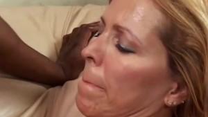 Big tits cougar fucks black dude