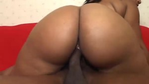 Big black BBW fucked hard with facial